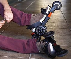 With the strap-on roller skates you can go from skating down the street to walking straight into the office without having to change shoes. The skates adjust...