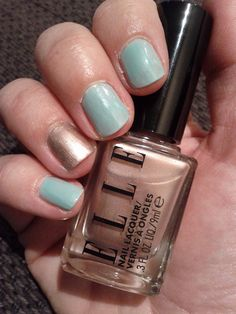 Elle nail polish - dries super fast. Holds up nice.