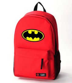 Batman school students backpack bag