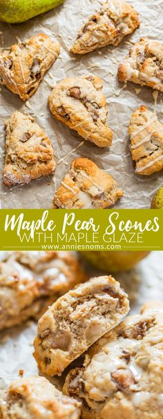 What could be better on an Autumn morning than a freshly baked Maple Pear Scone? Full of fresh fruit, maple syrup and a little cinnamon these are addictive!