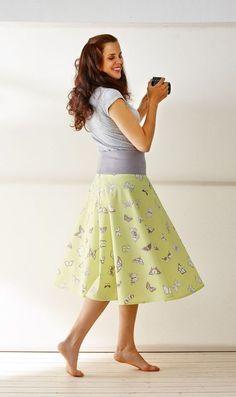 Halb-Glockenrock und Bandeau-Kleid - kostenlose Nähanleitung