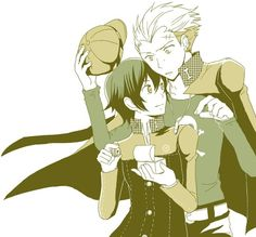Kanji Tatsumi and Naoto Shirogane best shipping in Persona 4 (in my opinion that is). They're so cute together :)