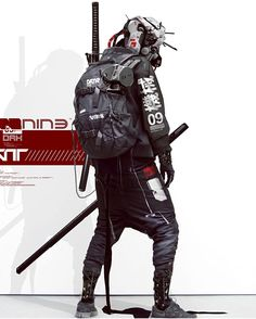 Future Tech Samurai - Technology News Arte Ninja, Arte Robot, Character Concept, Character Art, Concept Art, Ninja Assassin, Urban Samurai, Cyberpunk Kunst, Samurai Artwork