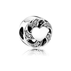 Ribbon Heart, Clear CZ - 791976CZ
