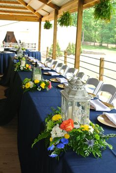 Bridal table at River Creek Lodge