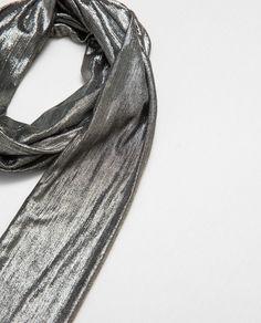 SMALL PRINT METALLIC EFFECT HANDKERCHIEF from Zara