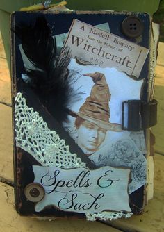 Halloween Witch's spell/potion book outside by corneroftheattic