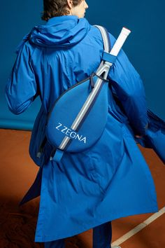 Z Zegna Spring 2019 Menswear Florence Collection - Vogue Beach Tennis, Tennis Accessories, Mens Fashion, Fashion Outfits, Sport Casual, Fashion Photo, Catwalk, Hooded Jacket, Rain Jacket