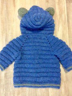 Crochet Bear sweater, Baby Toddler Boys hooded sweaters, baby hooded cardigan sweaters, blue sweaters for boys, newborn boy gifts Crochet Unicorn Hat, Crochet Baby Poncho, Crochet Baby Sweaters, Crochet Headband Pattern, Crochet For Boys, Crochet Bear, Newborn Baby Boy Gifts, Kids Knitting Patterns, Pull Bebe