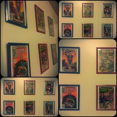 Made comic book frames for Caleb's room using his vintage collection #comics #frames #superhero #collectable