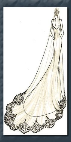long lace veil, going to convert my mantilla cathedral veil into this, just lace around the bottom, creeping up slightly, don't want lace veil next to the lace on the dress, and I like the way that the plain veils fall from the updo