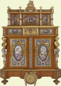 Eduoard Kreisser's cabinet for Queen Victoria.  1856.  Note women in pictures wearing mauve.