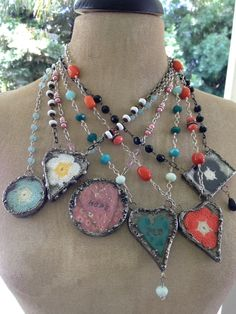Necklaces by Natalie Hansen  etsy seller lifeisacollage