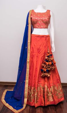 Half Saree Lehenga, Lehenga Skirt, Indian Lehenga, Ethnic Outfits, Ethnic Dress, Girls Fashion Clothes, Fashion Outfits, Clothes For Women, Indian Wedding Outfits