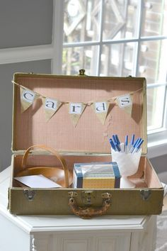 Missionary farewell open house ideas.  Cute card station for people to write an encouraging note.  #missionary #lds
