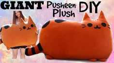 How to Make a GIANT Kawaii Pusheen Stuffed Animal Cat Plush - DIY Pillow!
