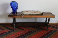 SENTINEL Reclaimed Wood and Galvanized Pipe Bench Table Bench. $295.00, via Etsy.