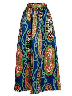 $14.99 High Waist Abstract Print A-Line Skirt