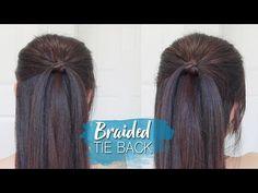 (133) Everyday Braided Tie Back Hairstyle | Half Up Half Down Hair Tutorial - YouTube