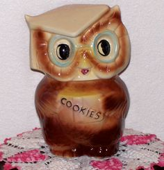 Vintage Cookie Jar - Collegiate Owl