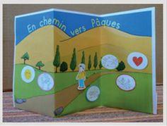 Support pour le Carême, chemin pour préparer Pâques avec les enfants. Disponible dans le journal gratuit pour l'éveil à la foi édité par le diocèse de Lyon. A télécharger ici: http://initiationchretienne-lyon.cef.fr/IMG/pdf/CPV_n4_Fin.pdf