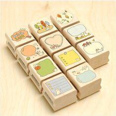 Kawaii cat memo stamp
