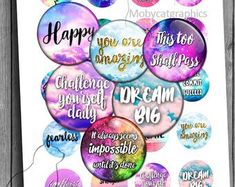 Sunset Digital Collage Sheet round circles for Bottle caps Pendants Digital Cabochon Printable Collage Sheet Handwritten Quotes, Hand Lettering Quotes, Resin Pendant, Unique Image, Collage Sheet, Digital Collage, Have Time, Create Yourself, Jewelry Making