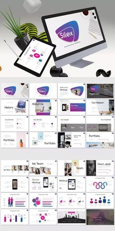Silex - Powerpoint Template by inspirasign on Envato Elements Brand Presentation, Presentation Design Template, Presentation Slides, Business Presentation, Powerpoint Presentation Templates, Keynote Template, Design Templates, Layout Design, Web Design