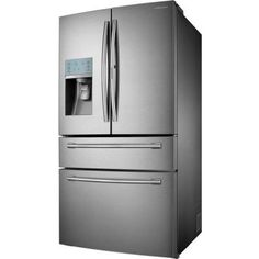 Samsung 29.5 cu. ft. French Door Refrigerator in Stainless Steel with Food Showcase Design-RF30HBEDBSR at The Home Depot