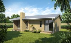 Traditional 66m² Southern Entrance House Plan