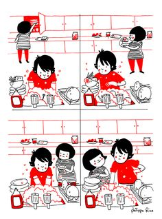soppy washing up; by Philippa Rice
