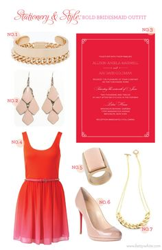 Stationery & Style: Bold Bridesmaid Outfit #weddinginvitations #bridesmaid