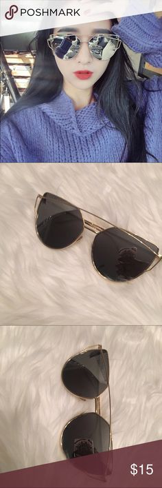 d7492e148b Cat eye vintage sunglasses New Cat Eye Sunglasses Women Vintage Fashion  Rose Gold Mirror Sun Glasses · Dior ...