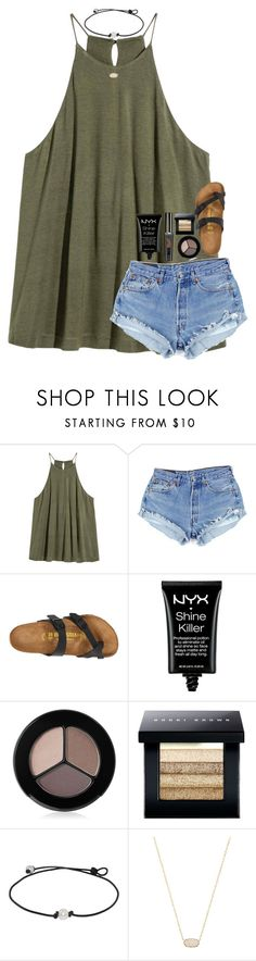 """Packing"" by southerngirl03 ❤ liked on Polyvore featuring Birkenstock, NYX, Smashbox, Bobbi Brown Cosmetics and Kendra Scott"