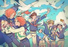 Boy Drawing, Cute Anime Boy, Ensemble Stars, Pretty Art, Sword Art Online, Manga Anime, Cool Art, Fan Art, Illustration