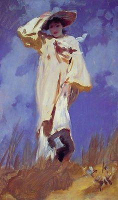 John Singer Sargent- A Gust of Wind