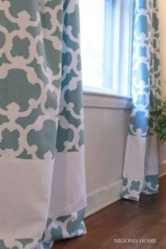 Curtain panels using shower curtains and extensions