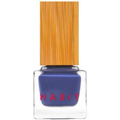 Habit Cosmetics 08 Blue Velvet Denim Blue 08blue_velvet ($18) ❤ liked on Polyvore featuring beauty products, nail care, nail polish, nails, beauty, cosmetics, blue nail polish and velvet nail polish