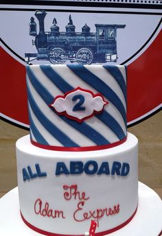 Antique train cake | Cake at a Vintage Train Party #vintagetrain #partycake