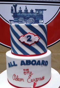 Antique train cake | Cake at a Vintage Train Party #vintagetrain #partycake