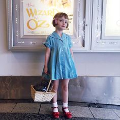 """Olive insisted on dressing the part and wearing lipstick. """"I'm not Olive anymore. I've changed my name to Dorothy."""" #olivedressup"""