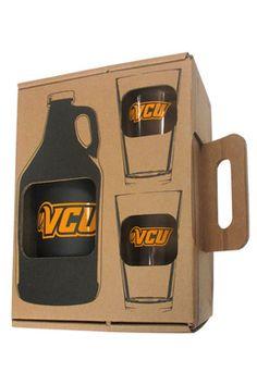 VCU Growler and Glasses Set