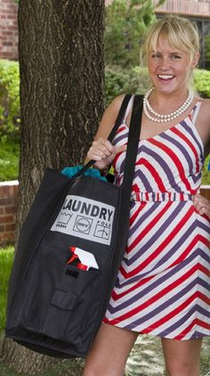 """""""Purchased this bag for graduating senior going off to college. Researched several laundry items and purchased this heavy duty bag. Stuffed the pouches outside of the bag with laundry tabs, dryer shee"""
