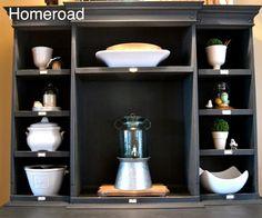 homeroad: Bin Shelves on a Hutch