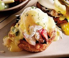 Etta's Dungeness Crab Eggs Benedict with Lemon Dill Hollandaise - Moveable Feast Recipe - FineCooking - Etta's Dungeness Crab Eggs Bennies with Lemon Dill Hollandaise recipe - Egg Recipes, Brunch Recipes, Seafood Recipes, Wine Recipes, Cooking Recipes, Recipies, Salad Recipes, Breakfast Dishes, Breakfast Time