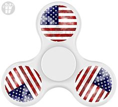 OXV Fidget Spinner TOYS Stress Reducer Relax EDC For ADD ADHD with American flag-WHITE - Fidget spinner (*Amazon Partner-Link)