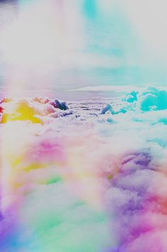Nubes de colores.