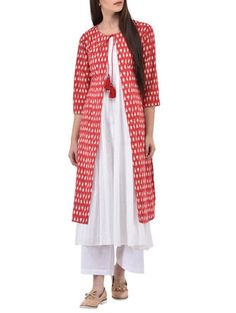 Flaunt your Kurti With Jacket Style style Kurti With Jacket, Cotton Jacket, Jacket Style, Kurtis, Stitching, Ethnic, Suit, Clothes For Women, Sewing