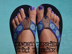 """@TawdryTerrier """"Tiki Terrier"""" - 2 bottles available at https://www.etsy.com/shop/TawdryTerrier #indienailpolish #nailpolish #tawdryterrier"""