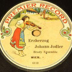 "BRADY ENSEMBLE  Erzherzog Johann Jodler  PREMIERE RECORD #78rpm 10"" #Schellackplatte"